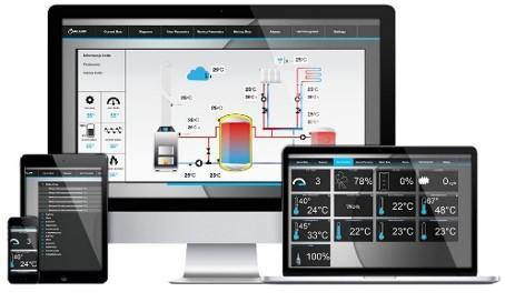 Commercial Industrial Heat Pumps Web Control Via App
