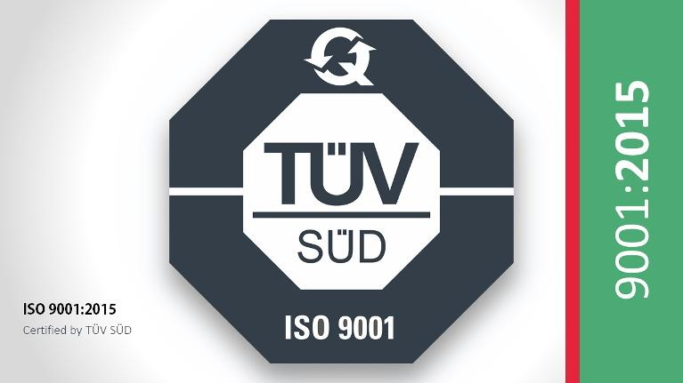 TermoPlus is accredited with ISO 9001-2015 certified by TÜV SÜD