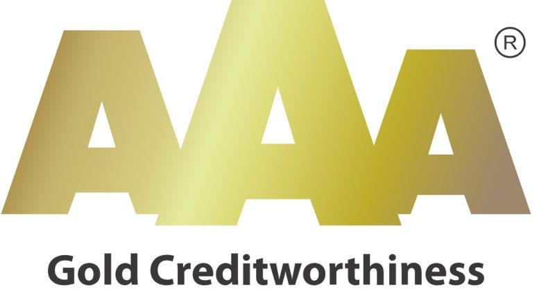 Gold AAA credit rating