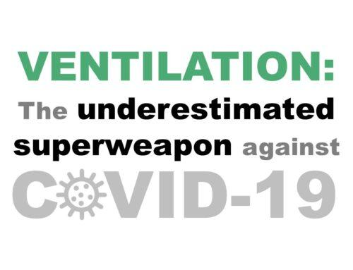 VENTILATION: The underestimated superweapon against COVID-19